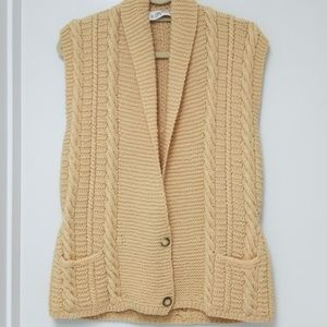 Ellen Tracy Hand made pure wool Vest sz M